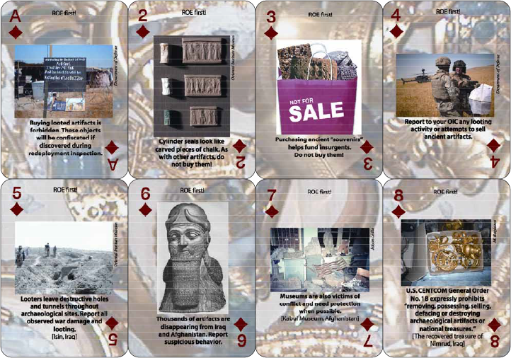 Heritage Resource Preservation Playing Cards for Operation Iraqi Freedom