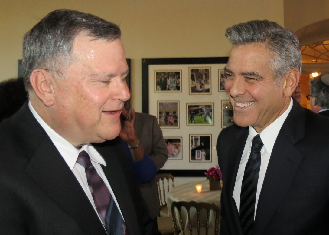 Dr. Paul Green with George Clooney