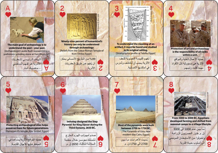 Heritage Resource Preservation Playing Cards for Exercise Bright Star 2009
